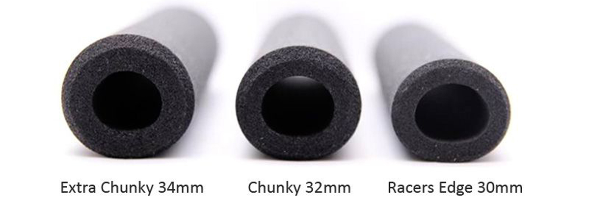 ESI CHUNKY SILICONE 32MM GRAY BICYCLE GRIPS